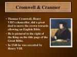 cromwell cranmer