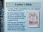 luther s bible