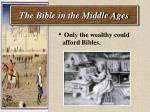 the bible in the middle ages