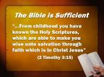 the bible is sufficient68