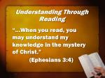 understanding through reading