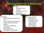 hemoglobinas sint ticas