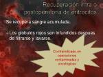 recuperaci n intra o postoperatoria de eritrocitos