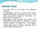 evasi n fiscal