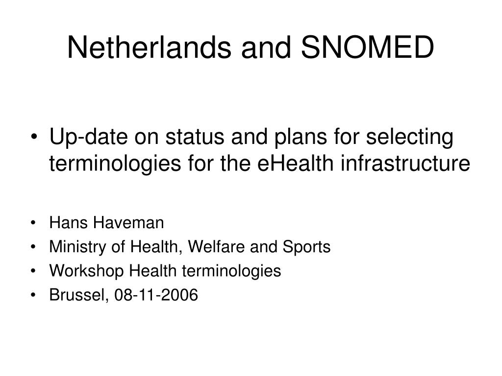 netherlands and snomed l.