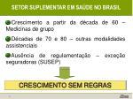 setor suplementar em sa de no brasil