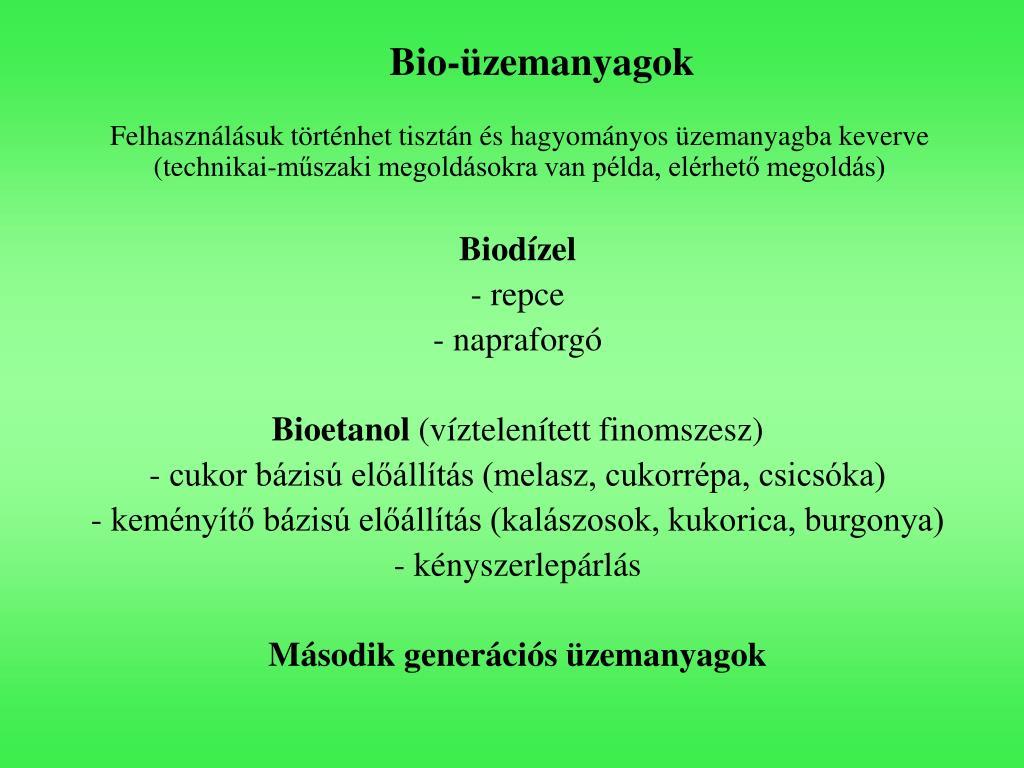 Bio-üzemanyagok