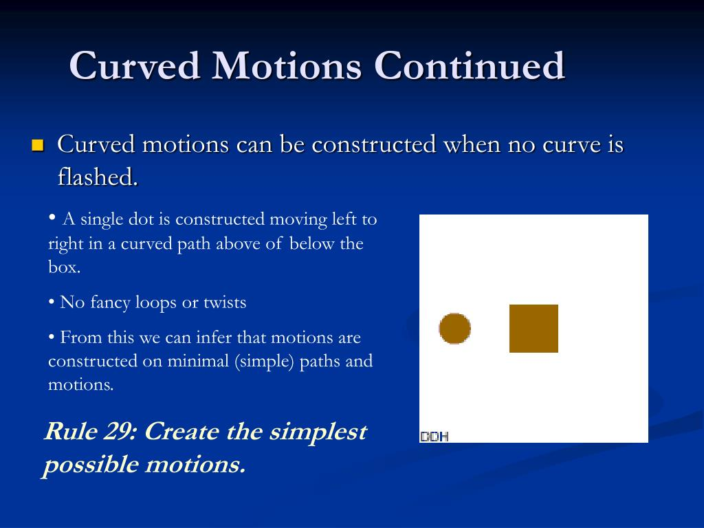 Curved Motions Continued