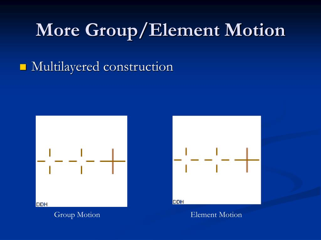 More Group/Element Motion