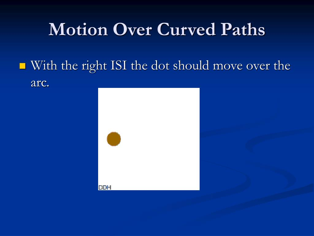 Motion Over Curved Paths