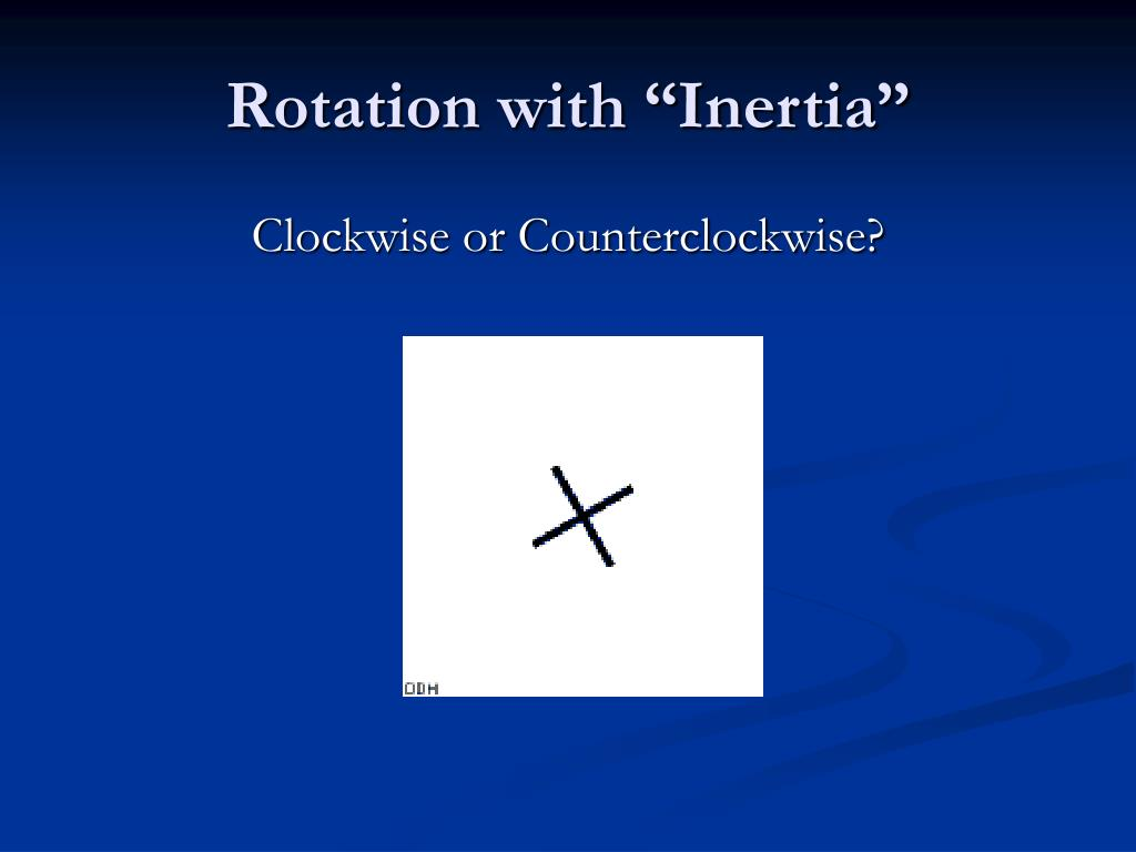 "Rotation with ""Inertia"""