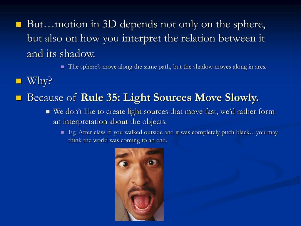 But…motion in 3D depends not only on the sphere, but also on how you interpret the relation between it and its shadow.
