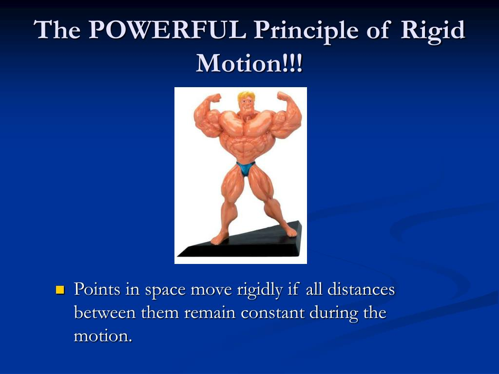 Points in space move rigidly if all distances between them remain constant during the motion.
