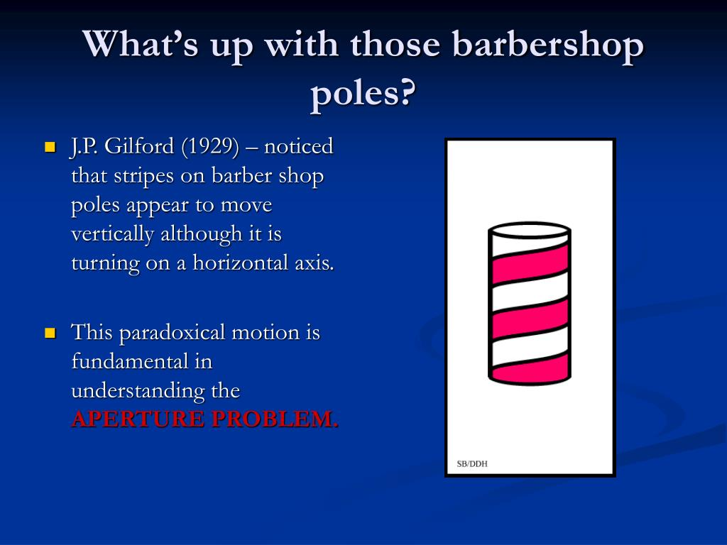 What's up with those barbershop poles?