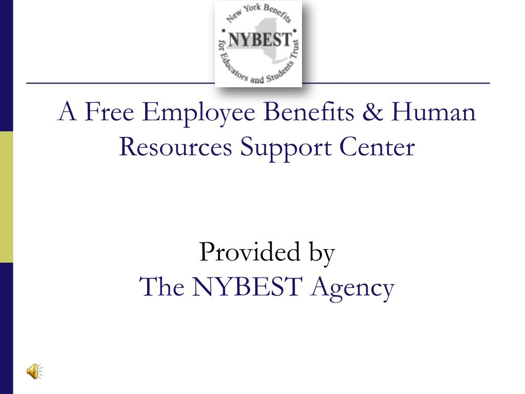 a free employee benefits human resources support center provided by the nybest agency l.