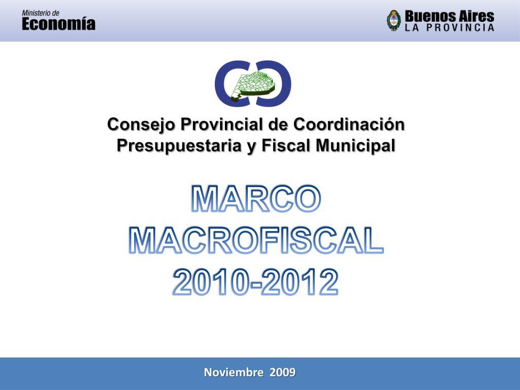 marco macrofiscal 2010 2012 l.