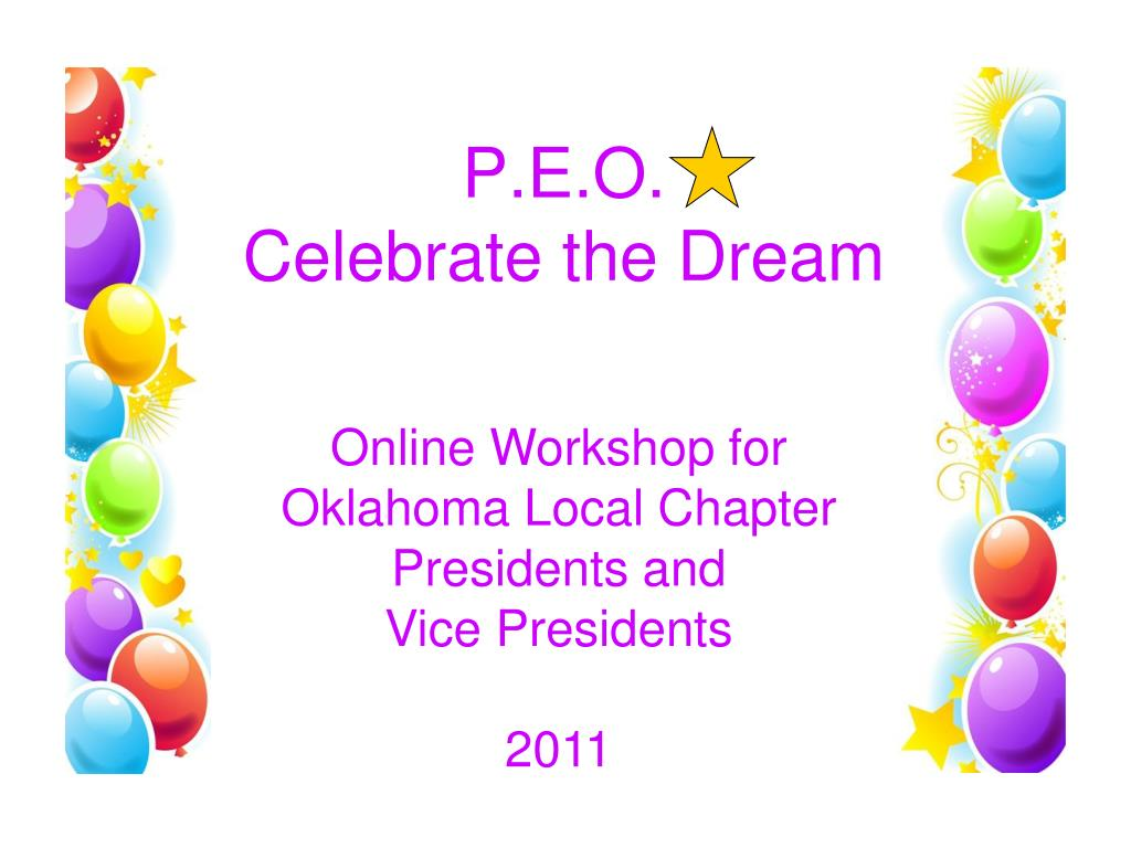 p e o celebrate the dream l.