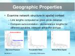 geographic properties