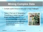 mining complex data