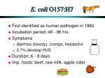 e coli o157 h7