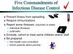five commandments of infectious disease control