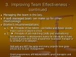 3 improving team effectiveness continued