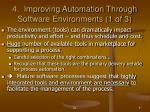 4 improving automation through software environments 1 of 3