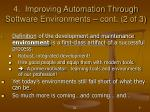 4 improving automation through software environments cont 2 of 3