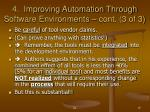 4 improving automation through software environments cont 3 of 3