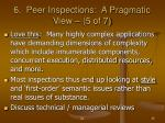 6 peer inspections a pragmatic view 5 of 7
