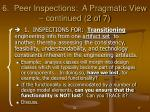 6 peer inspections a pragmatic view continued 2 of 7