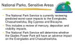 national parks sensitive areas