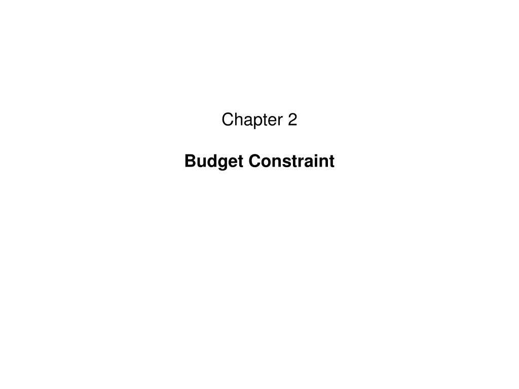 chapter 2 budget constraint l.