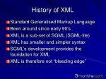history of xml
