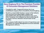 dave engberg pa is the premium provider of document management solutions