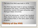 history of the mvg
