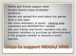ways to support midsa mvg