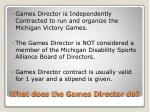 what does the games director do