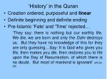 history in the quran