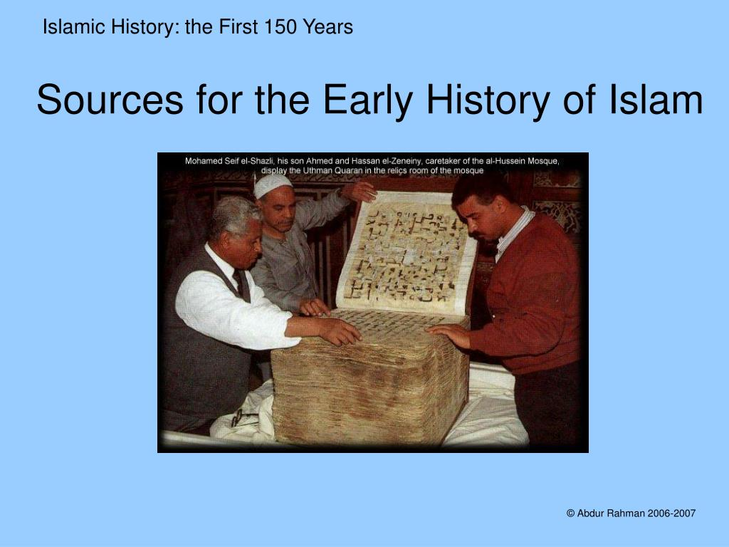 sources for the early history of islam l.