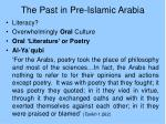 the past in pre islamic arabia
