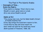 the past in pre islamic arabia10