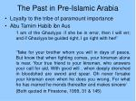 the past in pre islamic arabia7