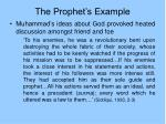 the prophet s example