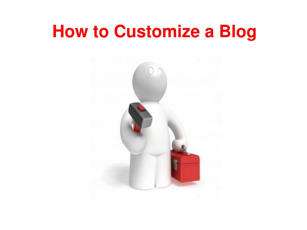 how to customize a blog l.