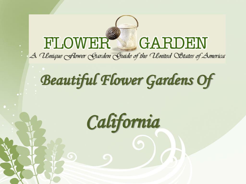 beautiful flower gardens of california l.