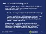 faa and icao work during 1980 s