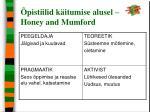 pistiilid k itumise alusel honey and mumford