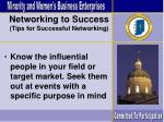 networking to success tips for successful networking
