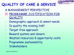 quality of care service